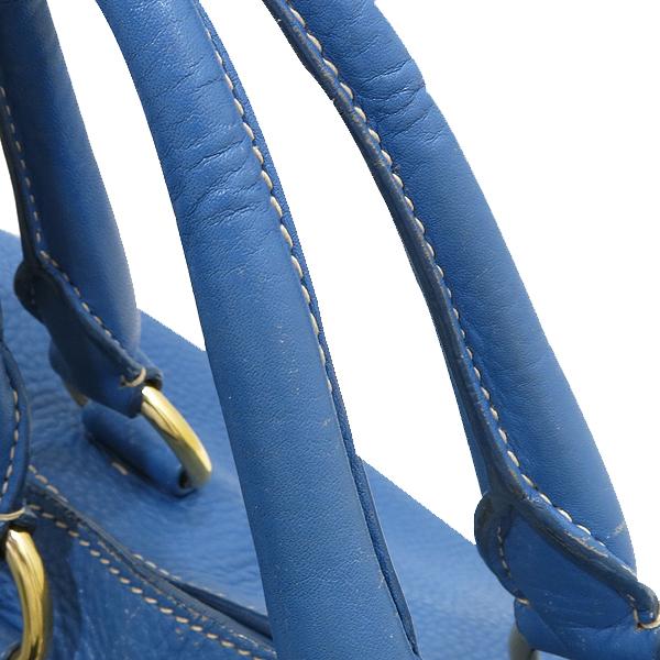 Prada(프라다) BN1713 VIT.DAINO(비텔로다이노) 오션블루 레더 금장 로고 토트백 + 숄더스트랩 2WAY [인천점] 이미지5 - 고이비토 중고명품
