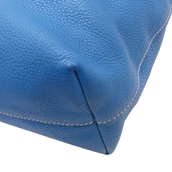 Prada(프라다) BN1713 VIT.DAINO(비텔로다이노) 오션블루 레더 금장 로고 토트백 + 숄더스트랩 2WAY [인천점] 이미지6 - 고이비토 중고명품