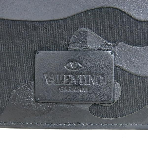 VALENTINO(발렌티노) NNB-AB022V0 블랙 램스킨 패브릭 혼방 카모플라쥬 클러치 [동대문점] 이미지5 - 고이비토 중고명품