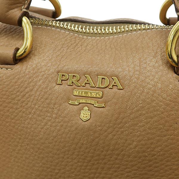 Prada(프라다) BL778M VIT.DAINO (비텔로다이노) 베이지 레더 금장 로고 장식 2WAY [강남본점] 이미지4 - 고이비토 중고명품