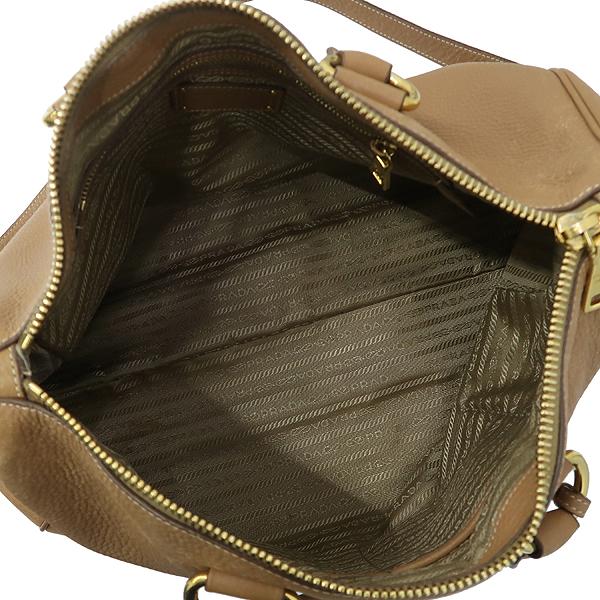 Prada(프라다) BL778M VIT.DAINO (비텔로다이노) 베이지 레더 금장 로고 장식 2WAY [강남본점] 이미지6 - 고이비토 중고명품