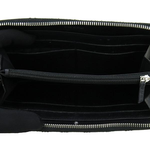 Chanel(샤넬) 블랙 카프스킨 COCO 로고 장식 더블 스티치 Hampton (햄프턴) 지피 장지갑 [강남본점] 이미지3 - 고이비토 중고명품