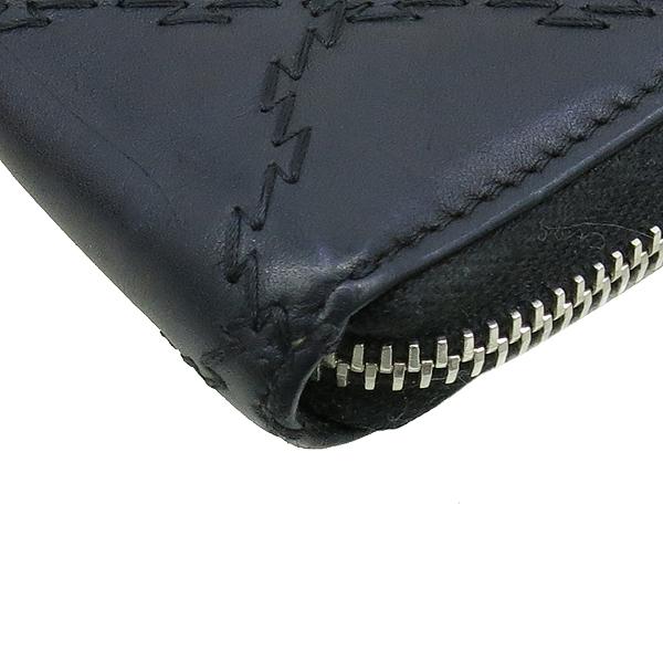 Chanel(샤넬) 블랙 카프스킨 COCO 로고 장식 더블 스티치 Hampton (햄프턴) 지피 장지갑 [강남본점] 이미지5 - 고이비토 중고명품
