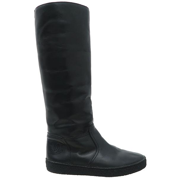 Chanel(샤넬) G29190 블랙 레더 여성용 롱 부츠 [강남본점] 이미지3 - 고이비토 중고명품