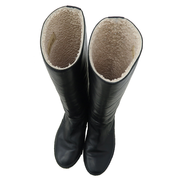 Chanel(샤넬) G29190 블랙 레더 여성용 롱 부츠 [강남본점] 이미지4 - 고이비토 중고명품