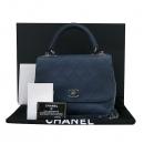 Chanel(샤넬) A93879Y 16 S/S 프리컬렉션 네이비 카프스킨 빈티지 COCO 로고 플랩 2WAY [부산센텀본점]