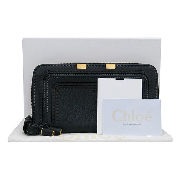 Chloe(끌로에) 3P0571 BLACK 컬러 CALFSKIN 마르시/마르씨 지퍼 월릿 장지갑 [부산센텀본점]