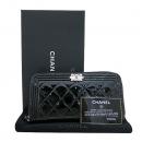 Chanel(샤넬) A80288Y25213 은장 보이 블랙 페이던트 퀼팅 집업 장지갑 [부산센텀본점]