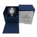 Swarovski(스와로브스키) 5080602 크리스탈 장식 화이트 가죽 밴드 여성용 시계 [부산센텀본점]