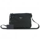 Prada(프라다) 1BC421 VELA 은장 삼각 로고 블랙 패브릭 크로스백 [동대문점]