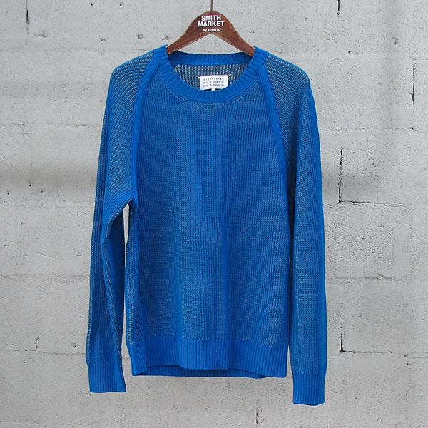 MARTIN MARGIELA (마틴마르지엘라) S50HA0565 울 혼방 블루 옐로우 컬러 남성용 니트 [동대문점]