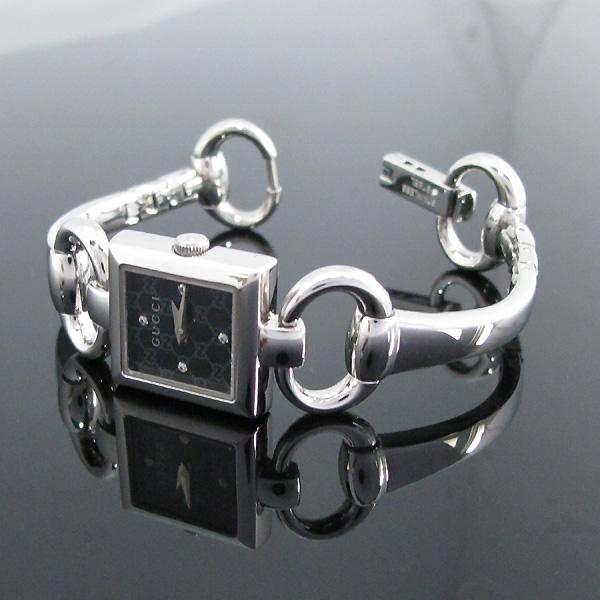 Gucci(구찌) YA120507 사각 스틸 4포인트 다이아 팔찌형 여성용 시계 [대구반월당본점] 이미지3 - 고이비토 중고명품