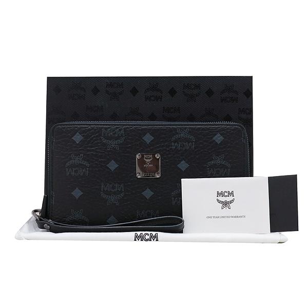 MCM(엠씨엠) MXL 4SVC29 BK001 블랙 레더 비세토스 남성용 집업 클러치 겸 장지갑 [인천점]