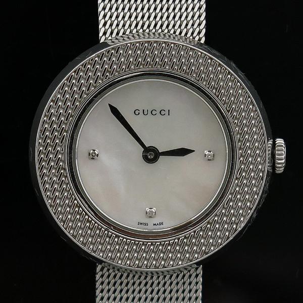 Gucci(구찌) 129.5 3포인트 다이아 자개판 스틸밴드 여성용 시계 [인천점] 이미지2 - 고이비토 중고명품