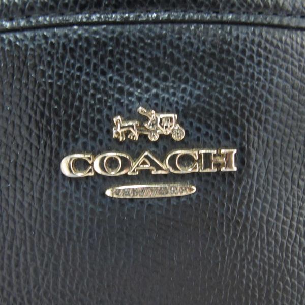 Coach(코치) 금장 로고 장식 블랙 레더 토트백 [대구반월당본점]