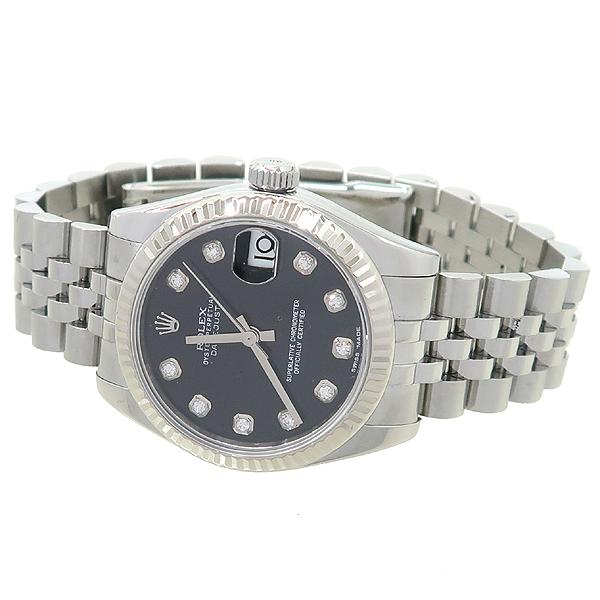 Rolex(로렉스) 178274 DATEJUST 데이트저스트 31MM 10포인트 다이아 블랙 다이얼 스틸  여성용 시계 [강남본점] 이미지2 - 고이비토 중고명품