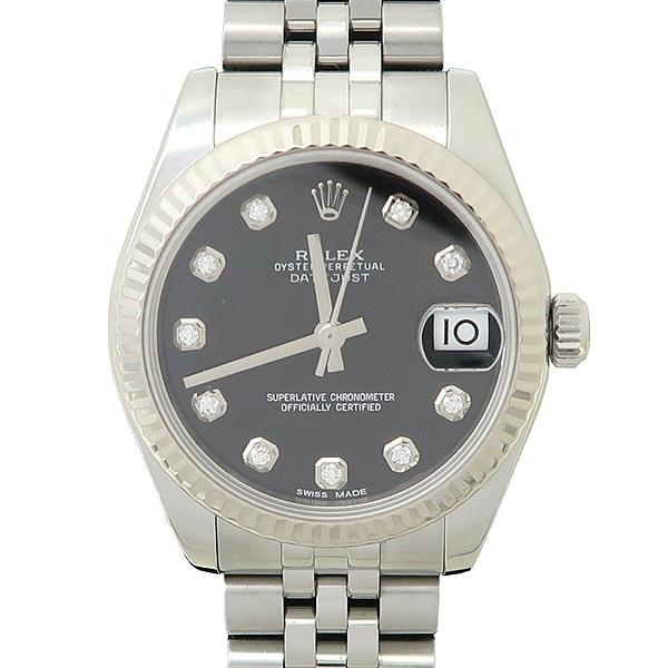 Rolex(로렉스) 178274 DATEJUST 데이트저스트 31MM 10포인트 다이아 블랙 다이얼 스틸  여성용 시계 [강남본점] 이미지5 - 고이비토 중고명품