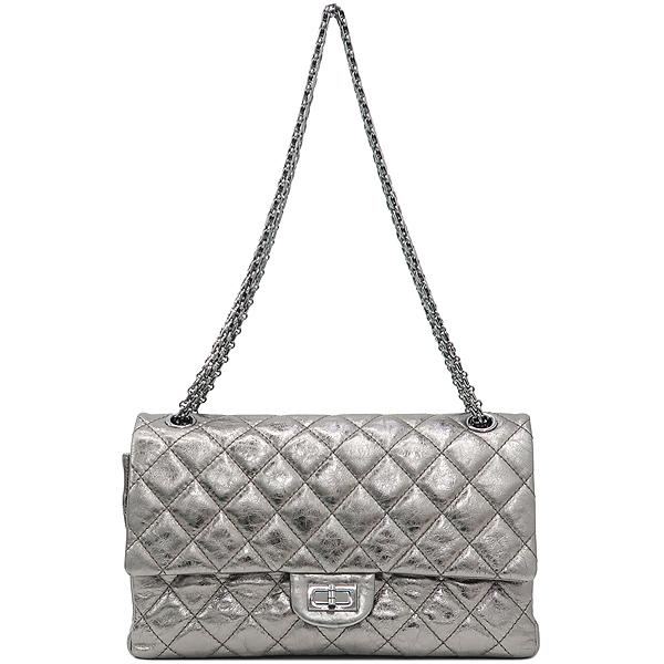 Chanel(샤넬) 2.55 빈티지 메탈릭 실버 L 사이즈 은장 체인 숄더백 [강남본점] 이미지2 - 고이비토 중고명품