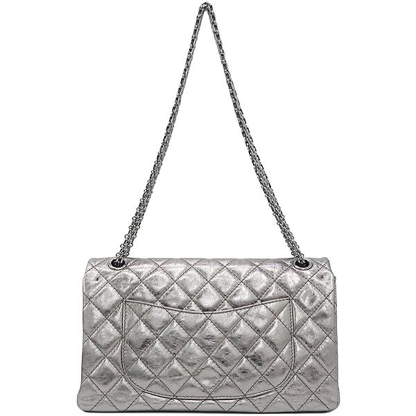 Chanel(샤넬) 2.55 빈티지 메탈릭 실버 L 사이즈 은장 체인 숄더백 [강남본점] 이미지4 - 고이비토 중고명품