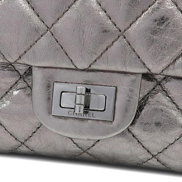 Chanel(샤넬) 2.55 빈티지 메탈릭 실버 L 사이즈 은장 체인 숄더백 [강남본점] 이미지5 - 고이비토 중고명품