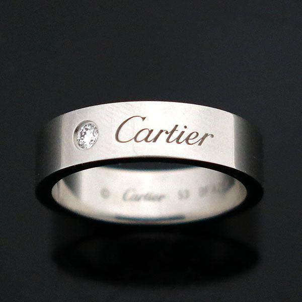 Cartier(까르띠에) B4210253 PT950(플래티늄) 1포인트 C 드 까르띠에 5MM 웨딩 밴드 반지 - 13호 [부산센텀본점] 이미지2 - 고이비토 중고명품