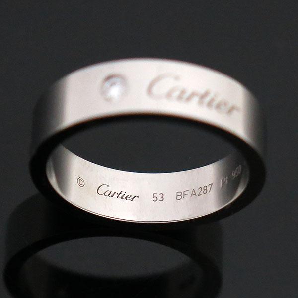 Cartier(까르띠에) B4210253 PT950(플래티늄) 1포인트 C 드 까르띠에 5MM 웨딩 밴드 반지 - 13호 [부산센텀본점] 이미지3 - 고이비토 중고명품