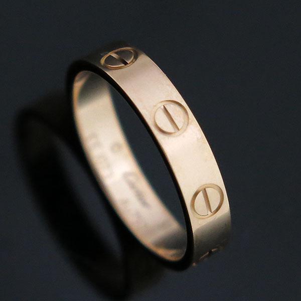 Cartier(까르띠에) B4085249 18K 핑크 골드 미니 러브링 반지 - 11호  [대구동성로점]