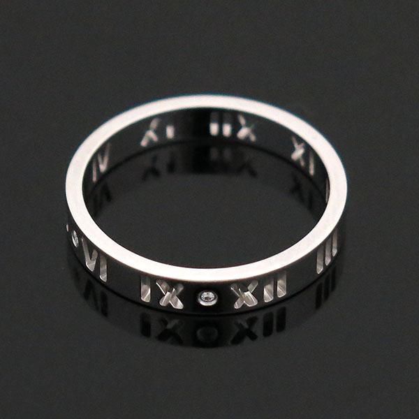 Tiffany(티파니) 18K 화이트골드 아틀라스 피어스드 4포인트 다이아 반지 - 18호 [부산센텀본점] 이미지3 - 고이비토 중고명품