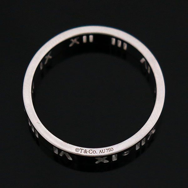 Tiffany(티파니) 18K 화이트골드 아틀라스 피어스드 4포인트 다이아 반지 - 18호 [부산센텀본점]