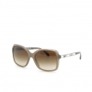 Chanel(샤넬) 5308-B-A 측면 로고 장식 브라운 컬러 뿔테 선글라스