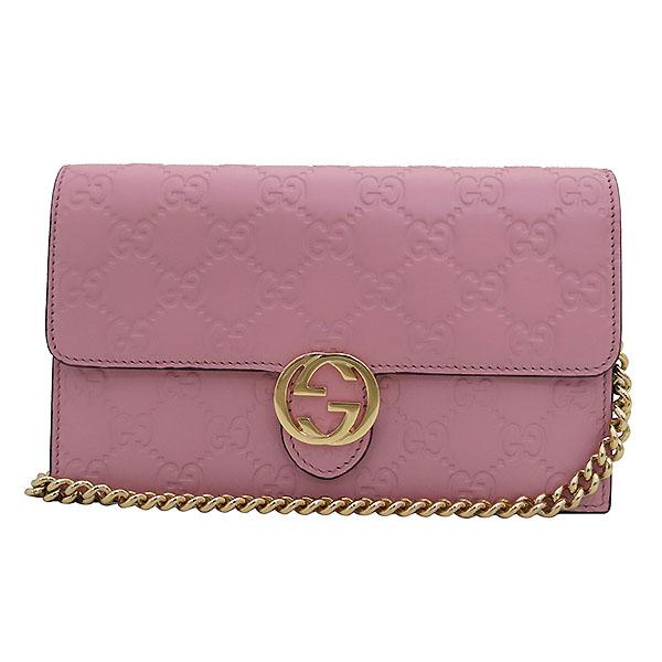 Gucci(구찌) 409340 핑크 GG 시그니처 금장 체인 크로스 지갑 [부산센텀본점] 이미지2 - 고이비토 중고명품