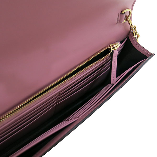 Gucci(구찌) 409340 핑크 GG 시그니처 금장 체인 크로스 지갑 [부산센텀본점] 이미지4 - 고이비토 중고명품