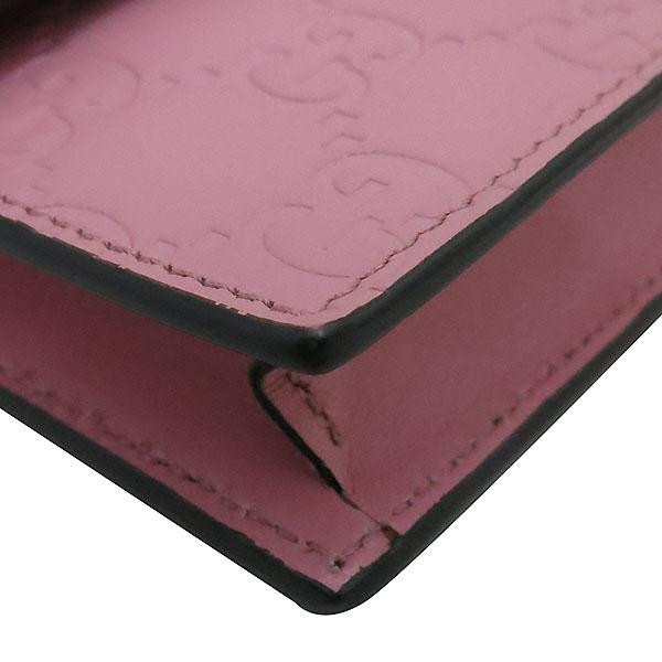 Gucci(구찌) 409340 핑크 GG 시그니처 금장 체인 크로스 지갑 [부산센텀본점] 이미지5 - 고이비토 중고명품