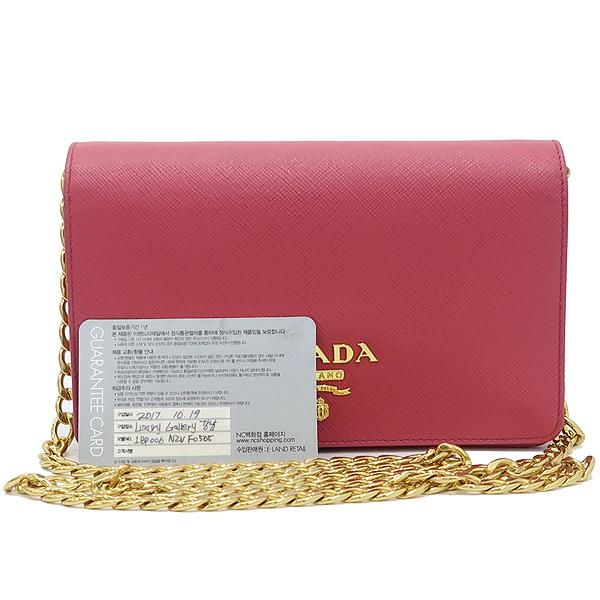 Prada(프라다) 1BP006 SAFFIANO LUX 핑크 컬러 사피아노 럭스 미니 체인 크로스백 [강남본점]