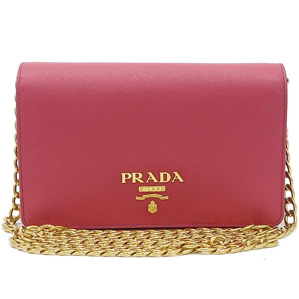 Prada(프라다) 1BP006 SAFFIANO LUX 핑크 컬러 사피아노 럭스 미니 체인 크로스백 [강남본점] 이미지2 - 고이비토 중고명품