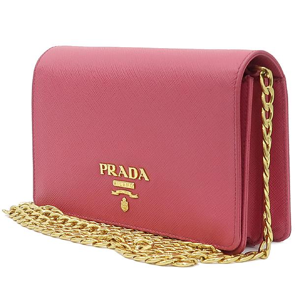 Prada(프라다) 1BP006 SAFFIANO LUX 핑크 컬러 사피아노 럭스 미니 체인 크로스백 [강남본점] 이미지3 - 고이비토 중고명품