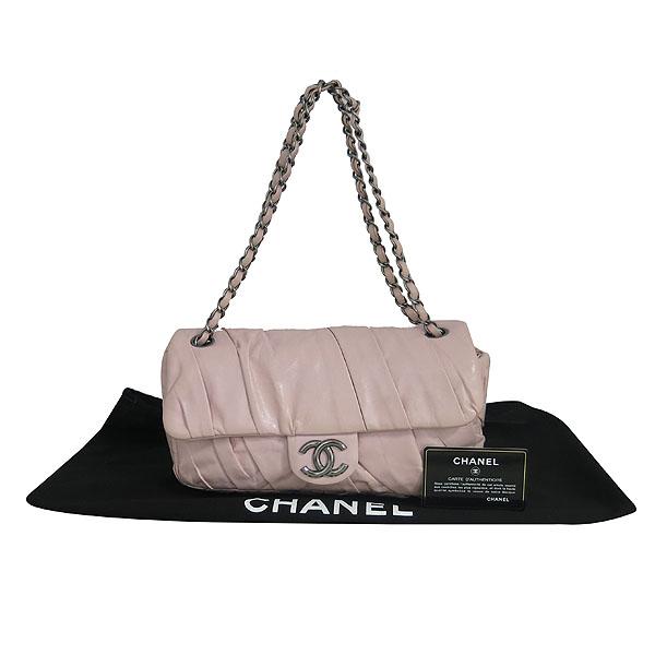 Chanel(샤넬) COCO로고 핑크 레더 셔링 체인 숄더백 [동대문점]