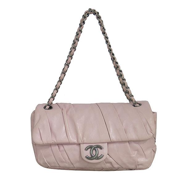 Chanel(샤넬) COCO로고 핑크 레더 셔링 체인 숄더백 [동대문점] 이미지2 - 고이비토 중고명품