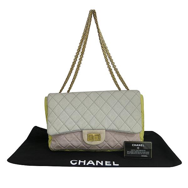 Chanel(샤넬) A46020Y05214 멀티 컬러 패브릭 퀄팅 빈티지 점보 체인 숄더백 [동대문점]