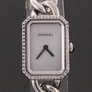 Chanel(샤넬) H3253 프리미에르 화이트자개 56P 다이아몬드 스몰 스틸 시계