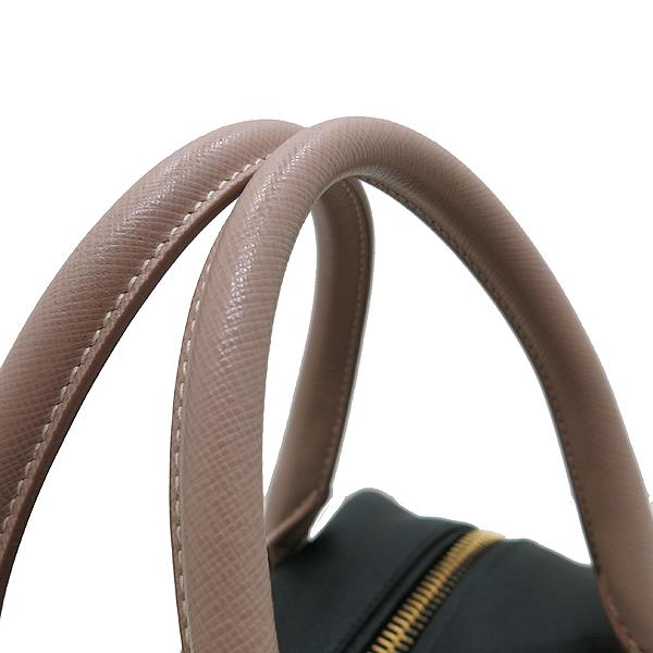 Prada(프라다) BL0757 사피아노 NERO+CAMMEO 컬러 측면 금장 삼각로고 토트백 + 숄더스트랩 [인천점] 이미지4 - 고이비토 중고명품