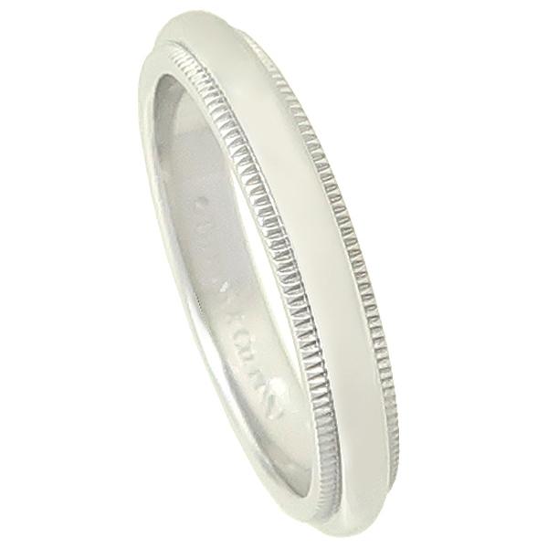 Tiffany(티파니) PT950(플래티늄) 밀그레인 3MM 반지 - 9호  [대구동성로점] 이미지3 - 고이비토 중고명품