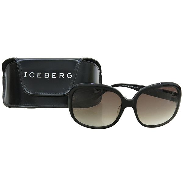 Iceberg(아이스버그) lc612 측면 로고 블랙 뿔테 선글라스 [강남본점]
