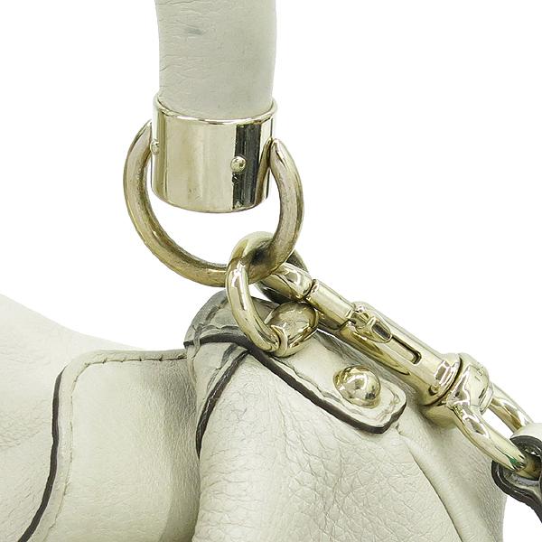 Gucci(구찌) 185566 아이보리 레더 뱀부 장식 인디 토트백 + 숄더 스트랩 [강남본점] 이미지5 - 고이비토 중고명품