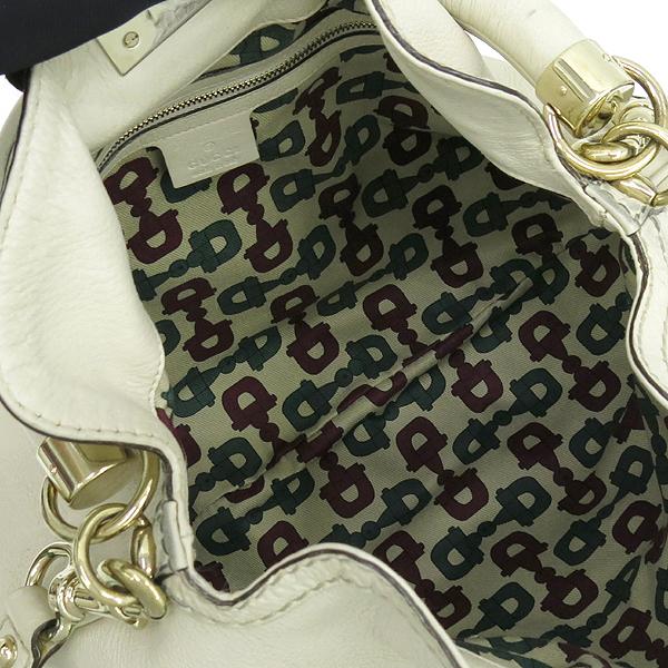 Gucci(구찌) 185566 아이보리 레더 뱀부 장식 인디 토트백 + 숄더 스트랩 [강남본점] 이미지6 - 고이비토 중고명품