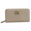 Ferragamo(페라가모) 22 B300 사피아노 레더 금장 간치니 로고 장식 짚업 장지갑 [대구반월당본점]