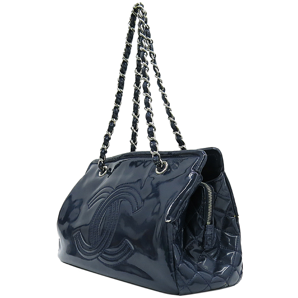 Chanel(샤넬) 네이비 컬러 페이던트 은장 체인 정방 숄더백 [강남본점] 이미지2 - 고이비토 중고명품