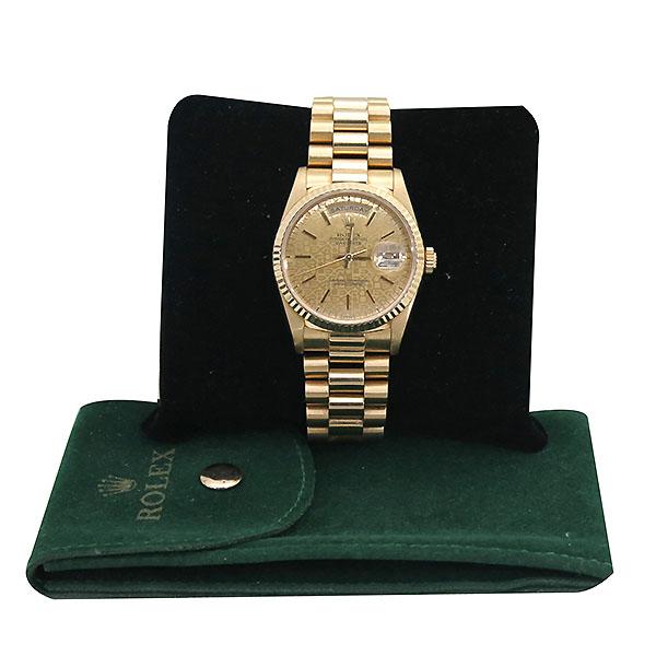 Rolex(로렉스) 18238 DAYDATE 데이데이트 18K 옐로우골드 금통 컴퓨터판 프레지던트 브레이슬릿 남성용시계 [부산센텀본점]