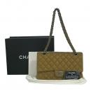 Chanel(샤넬) A01112 브라운 캐비어스킨 클래식 M사이즈 은장 체인 숄더백 [동대문점]