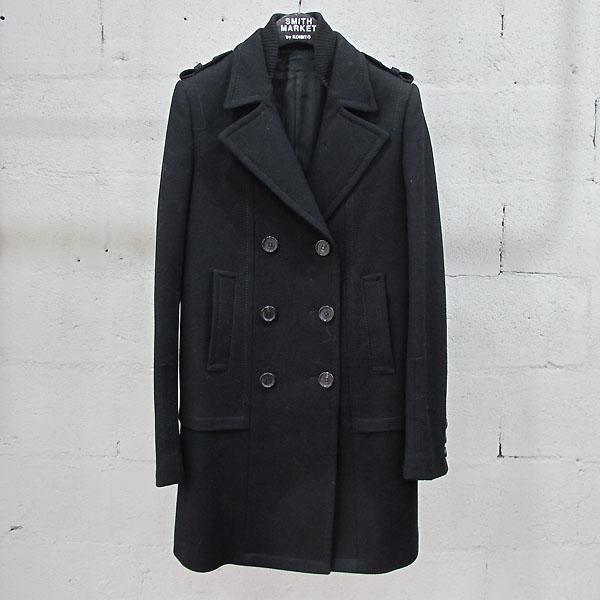 NEIL BARRETT(닐바렛) 울 혼방 블랙 컬러 견장 디테일 여성용 코트 [동대문점]